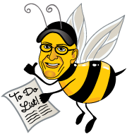 cartoon bee logo